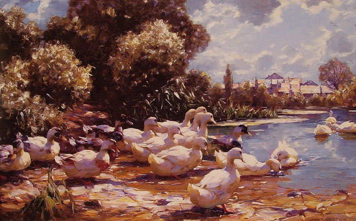 Oil Painting Reproduction of Koester- Midday Swim