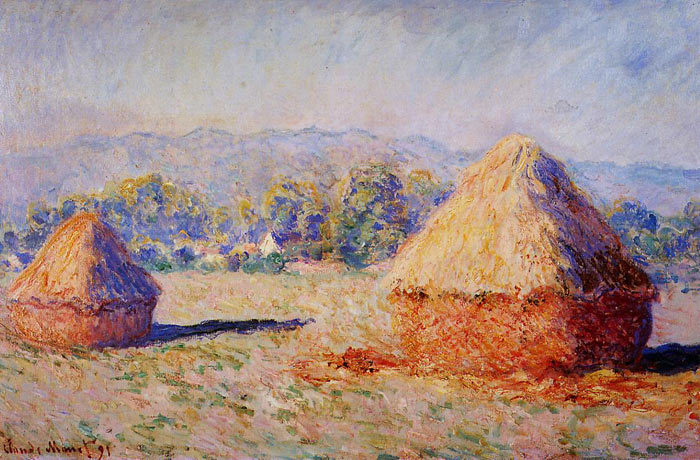 Oil Painting Reproduction of Monet - Grainstacks in the Sunlight Morning Effect
