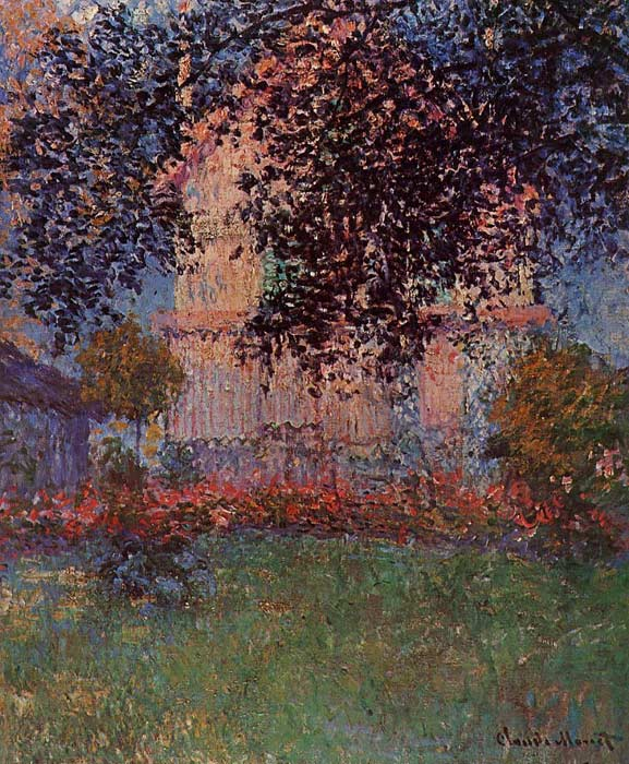Oil Painting Reproduction of Monet- Monets House in Argenteuil