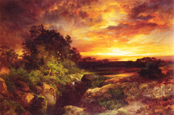 Oil Painting Reproduction of Moran- An Arizona Sunset Near the Grand Canyon