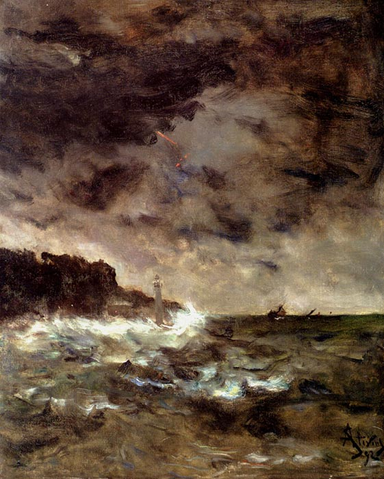 Oil Painting Reproduction of Moran- Approaching Storm