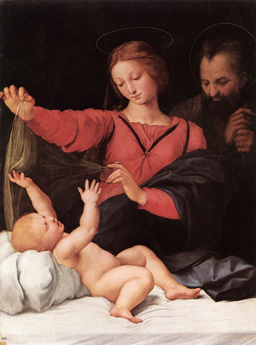 Oil Painting Reproduction of Raphael- Madonna of Loreto