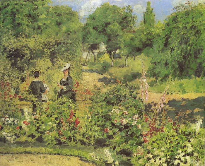 Oil Painting of Garden at Fontenay