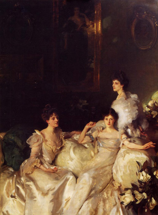 Oil Painting Reproduction of Sargent- The Wyndham Sisters