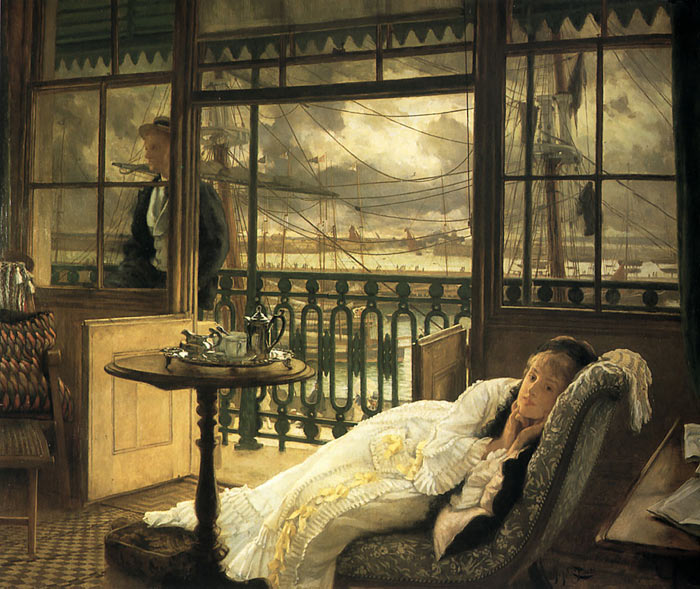 Oil Painting Reproduction of Tissot- A Passing Storm