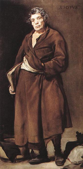 Oil Painting Reproduction of Velazquez- Aesop