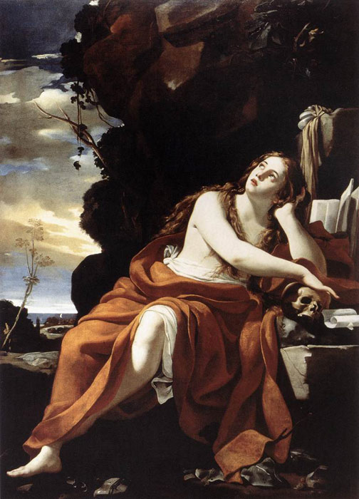 Oil Painting Reproduction of Vouet- St Mary Magdalene