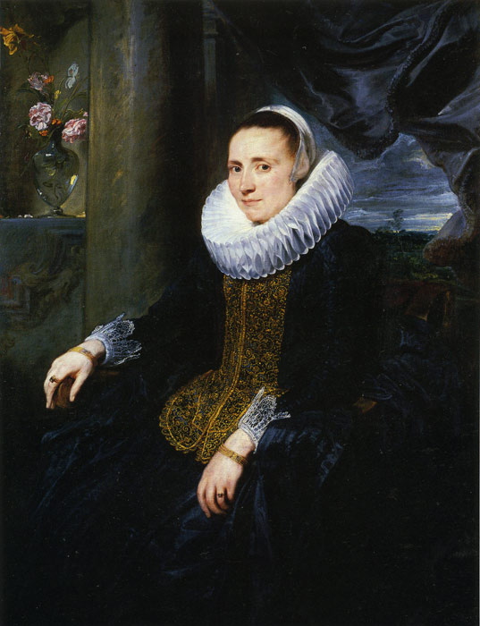 Oil Painting Reproduction of van Dyck - Margarita Snyders