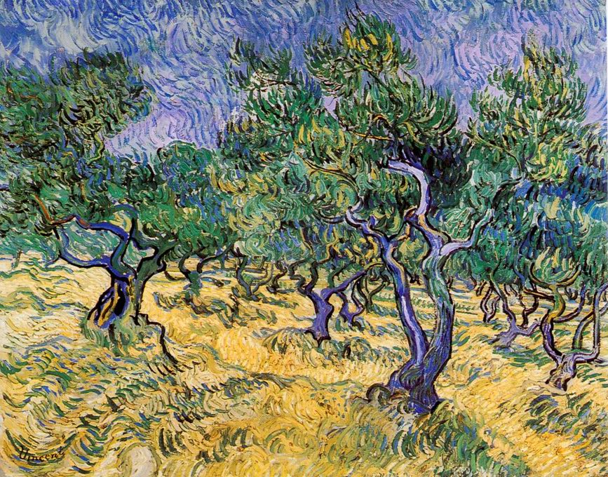 Olive Grove painting, a Vincent Van Gogh paintings reproduction, we never sell Olive Grove poster