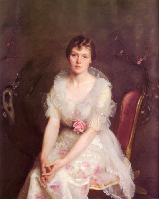 Paxton Oil Painting Reproductions- Portrait of Louise Converse