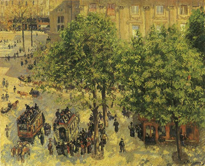 Pissaro Oil Painting Reproductions - The French Theatre Plaza