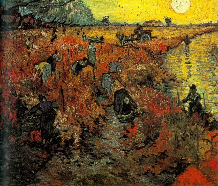 Red Vineyard painting, a Vincent Van Gogh paintings reproduction, we never sell Red Vineyard poster