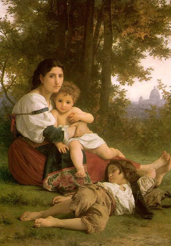 Rest painting, a Adolph William Bouguereau paintings reproduction, we never sell Rest poster