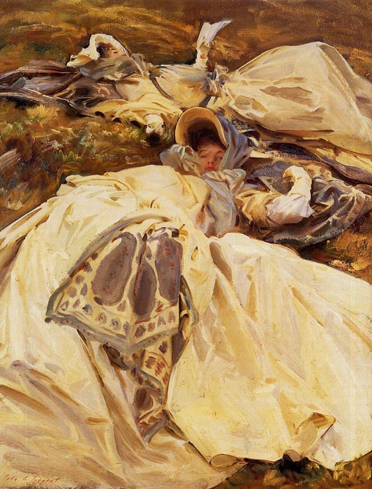 Sargent Oil Painting Reproduction - Two Girls in White Dresses
