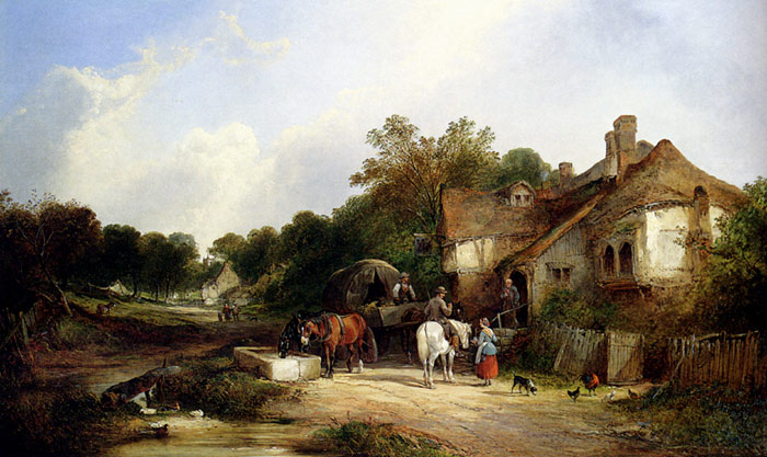 Shayer Oil Painting Reproduction - The Road Side Inn