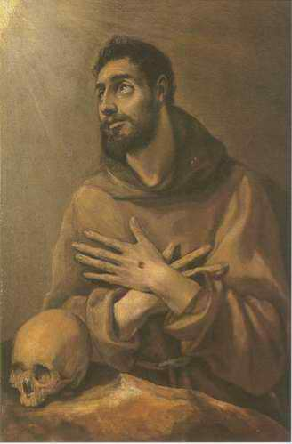 St.Francisco with the arms crossed painting, a El Greco paintings reproduction, we never sell