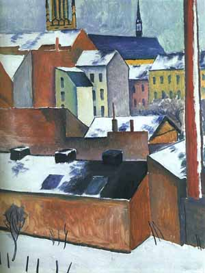 St Marys in the Snow painting, a Auguste Macke paintings reproduction, we never sell St Marys in the