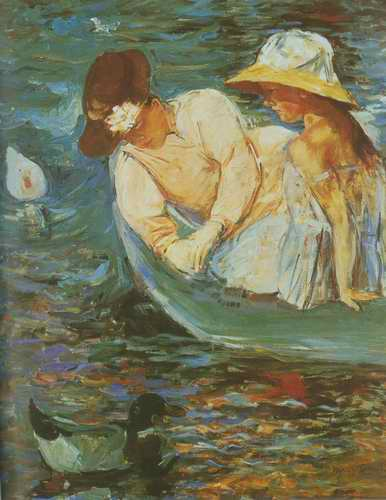 Summertime. c. 1894 painting, a Mary Cassatt paintings reproduction, we never sell Summertime. c.