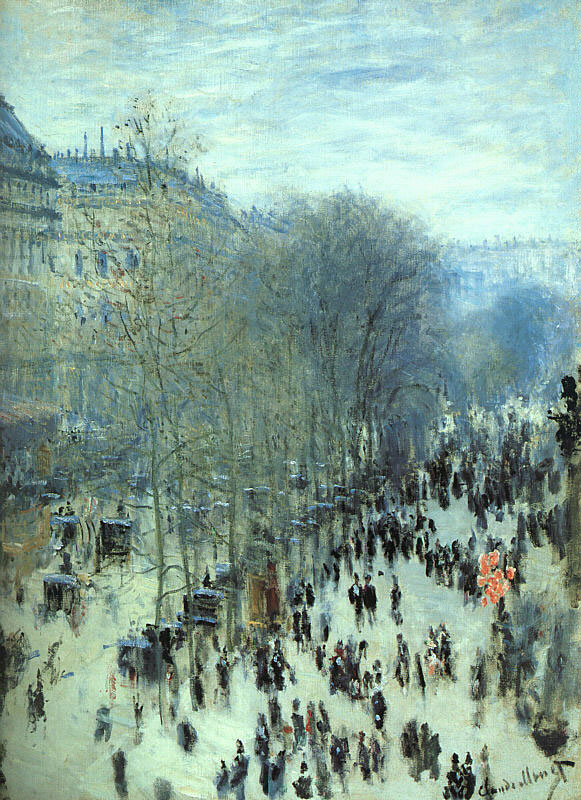The Boulevard des Capucines,1873 painting