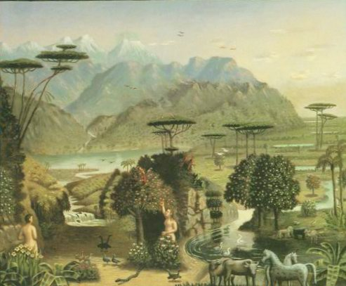 The Garden of Eden painting, a Erastus Field paintings reproduction, we never sell The Garden of