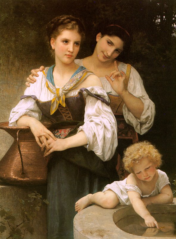 The Secret painting, a Adolph William Bouguereau paintings reproduction, we never sell The Secret