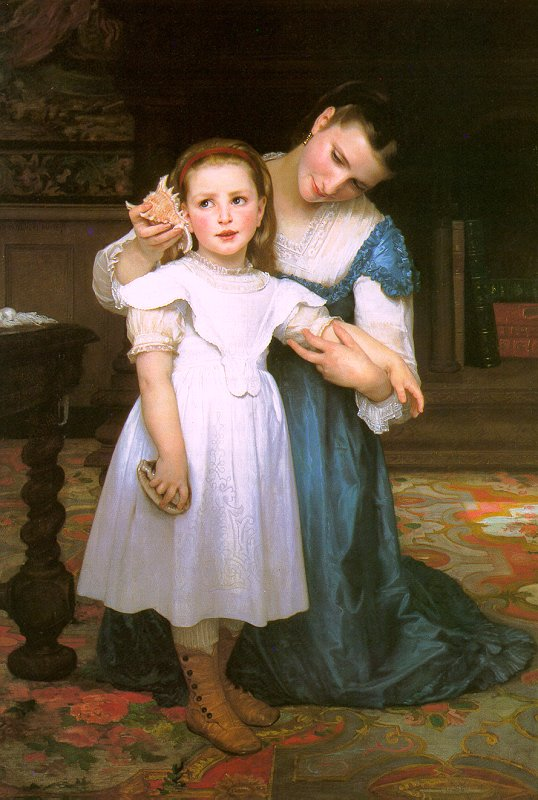 The Shell painting, a Adolph William Bouguereau paintings reproduction, we never sell The Shell