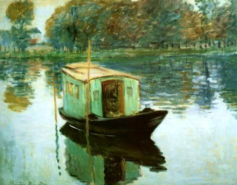 The studio Boat,1874 painting, a Claude Monet paintings reproduction, we never sell The studio