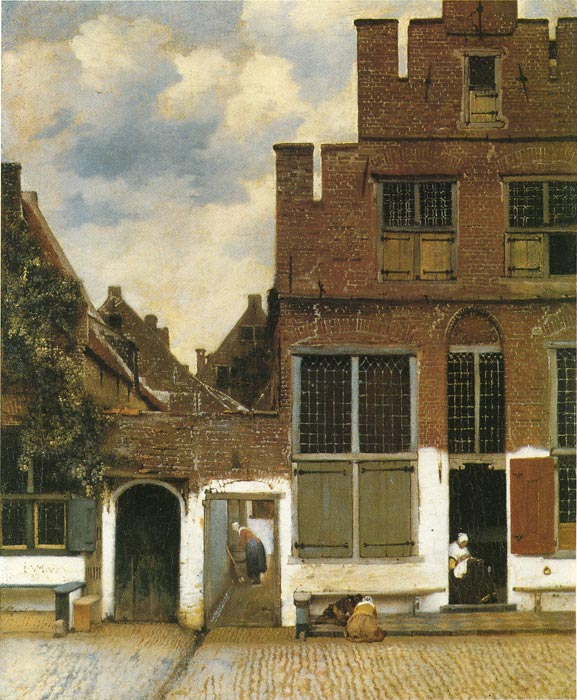 Vermeer Oil Painting Reproductions - Street in Delft