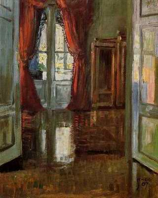 View into the Apartment of Leopold and Marie Cziha painting, a Egon Schiele paintings reproduction,