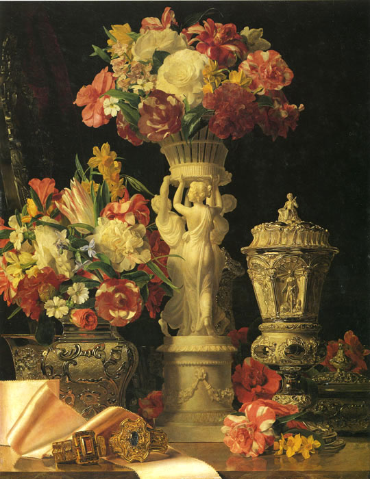 Waldmuller Oil Painting Reproductions - Flora
