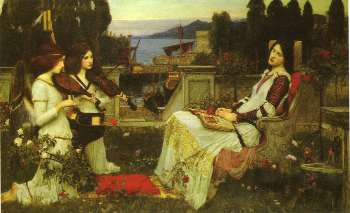 Waterhouse Oil Painting Reproductions - Saint Cecilia