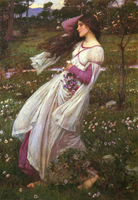 Waterhouse Oil Painting Reproductions - Windswept