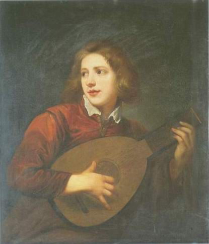 boy playing a lute painting, a Sir Antony Van Dyck paintings reproduction, we never sell boy playing