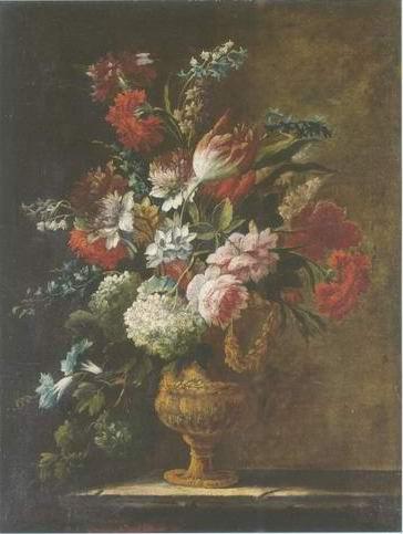 flowers still life painting, a Karel van vogelaer paintings reproduction, we never sell flowers