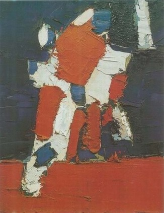 football game painting, a Nicolas de Sta? paintings reproduction, we never sell football game poster