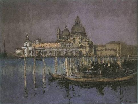 the Dogana and Santa Maria della Salute painting, a Walter Richard Sickert paintings reproduction