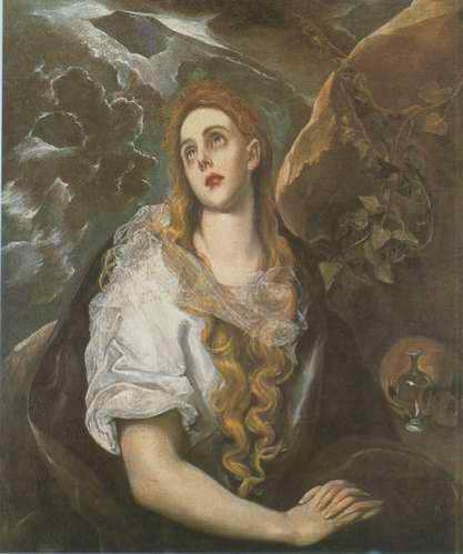 Mary Magdalen in Penitence painting, a El Greco paintings reproduction, we never sell Mary Magdalen