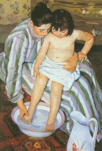 The Bath. c. 1893 painting, a Mary Cassatt paintings reproduction, we never sell The Bath. c. 1893