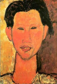 Portrait of Chaim Soutine. painting, a Amedeo Modigliani paintings reproduction, we never sell