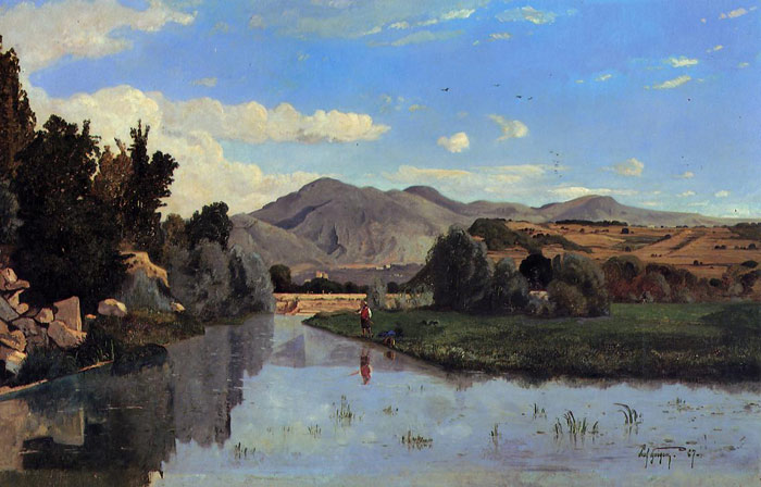 Guigou Oil Painting Reproductions - The Aiguebrun River at Lourmarin,