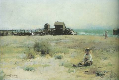 boy on a beach painting, a Walter Osborne paintings reproduction, we never sell boy on a beach