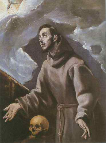 St. Francis Receiving the Stigmata painting, a El Greco paintings reproduction, we never sell St.