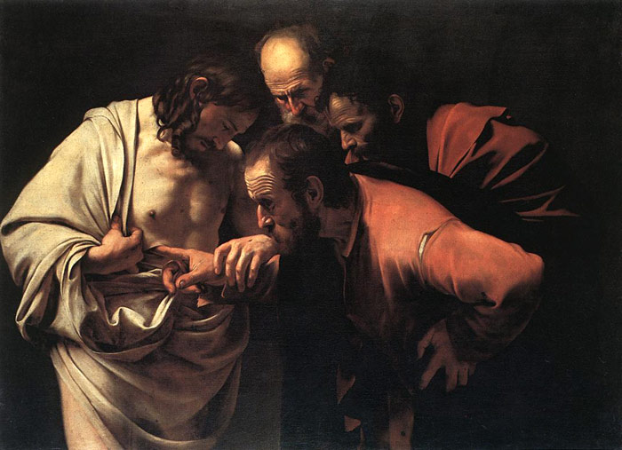Caravaggio Oil Painting Reproductions- The Incredulity of Saint Thomas