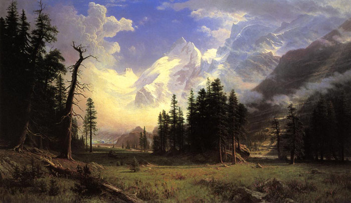 Oil Painting Reproduction of Bierstadt - The Morteratsch Glacier