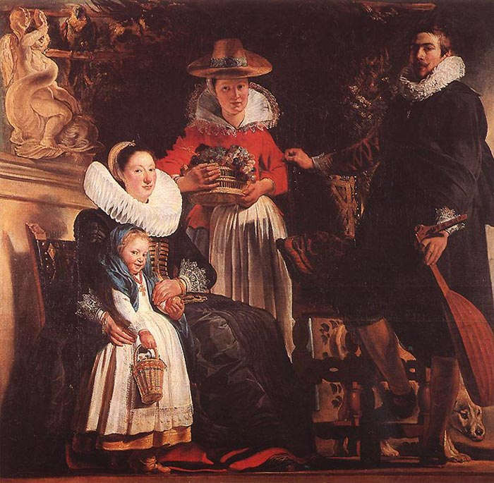 Jordaens Oil Painting Reproductions- The Family of the Artist