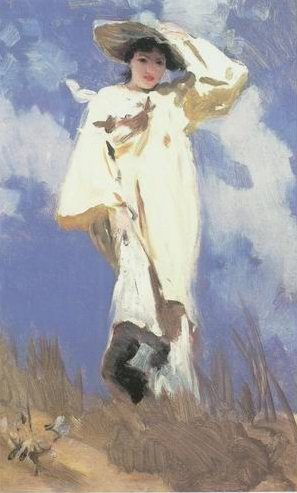 a gust of wind painting, a John singer Sargent paintings reproduction, we never sell a gust of wind