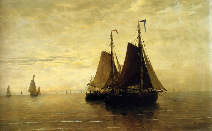 Mesdag Oil Painting Reproduction - Kalme Zee