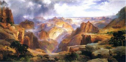 Grand Canyon painting, a Thomas Moran paintings reproduction, we never sell Grand Canyon poster