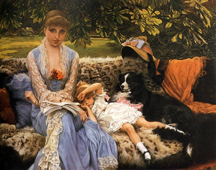 Tissot Oil Painting Reproductions- Quiet