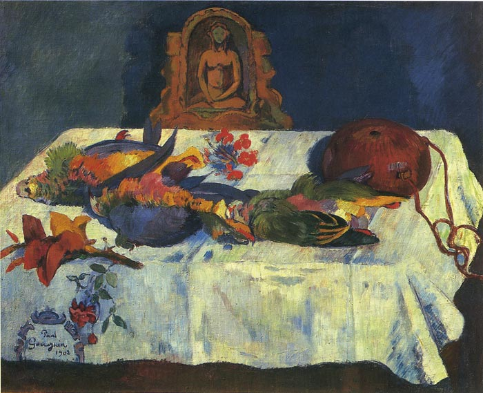 Oil Painting Reproduction of Gauguin - Still Life with Parrots